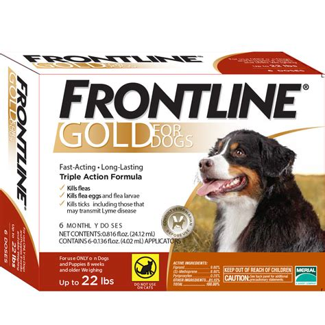 frontline for dogs frontline 174 gold for dogs 0 22 lbs orange 3 month