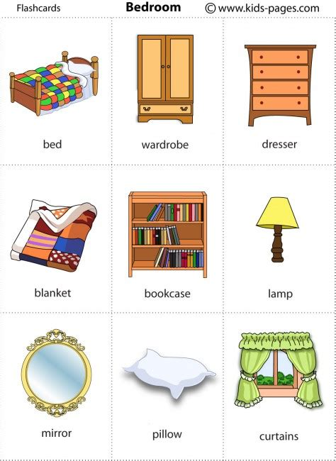 spanish word for bedroom bedroom flashcard