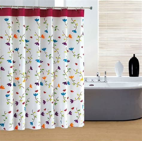 design your own shower curtain online colorful flower cute design 180x180cm polyester bathroom