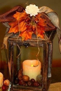 17 Best ideas about Fall Lantern Centerpieces on Pinterest