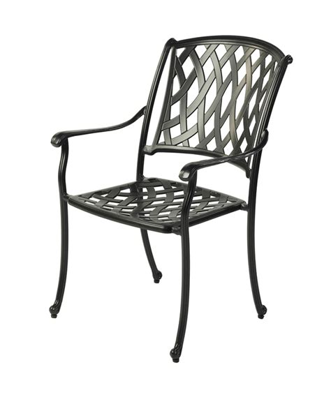 Black Metal Garden Chairs by Bramblecrest Etna Stacking Armchair In Black