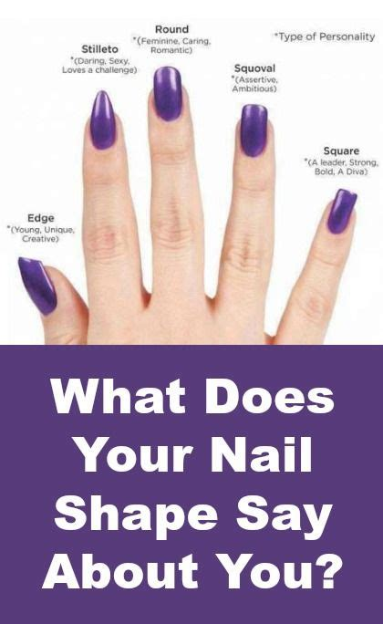 Your Nail Type by What Your Nail Shape Says About You Nail Nail Manicures
