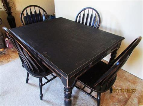 distressed black kitchen table serene black distressed kitchen table and chairs