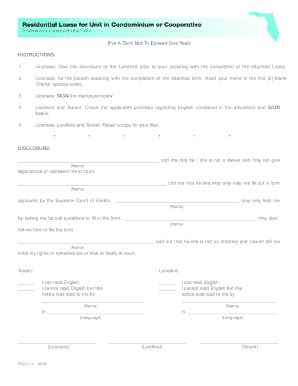 Fillable Online Condo Townhome Lease Fax Email Print Pdffiller Townhome Lease Agreement Template