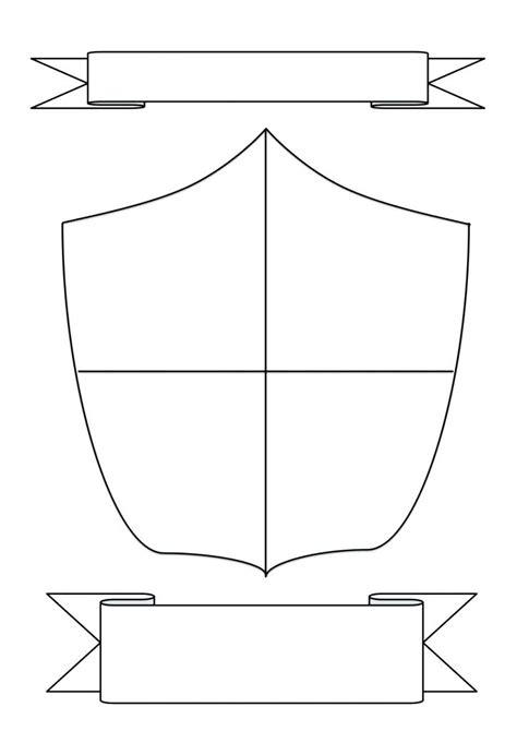 school shield template shield family crest 4 coat of arms template printable free