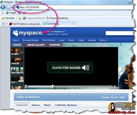 unblock facebook myspace twitter youtube