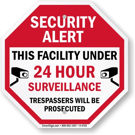 surveillance signs free shipping options
