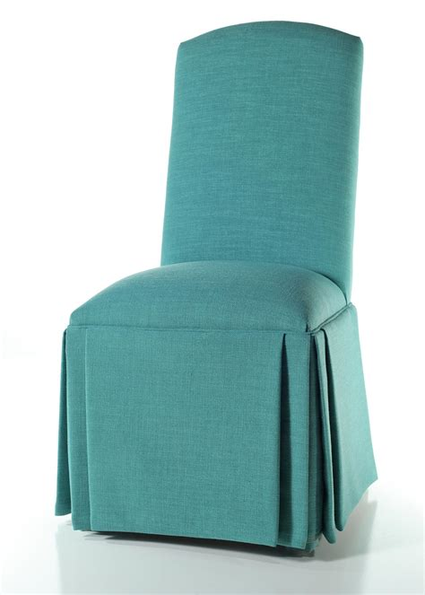 turquoise parson chair covers crescent back parsons chair pleat skirt custom