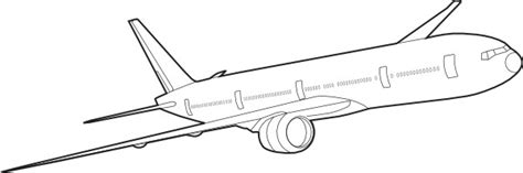 coloring page airplane outline plane outline cliparts co