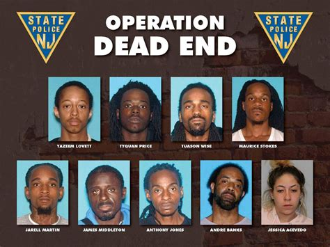 Newark Nj Warrant Search Nj Arrest 7 In Trafficking Bust And Seize 50k Worth Of Heroin Cocaine