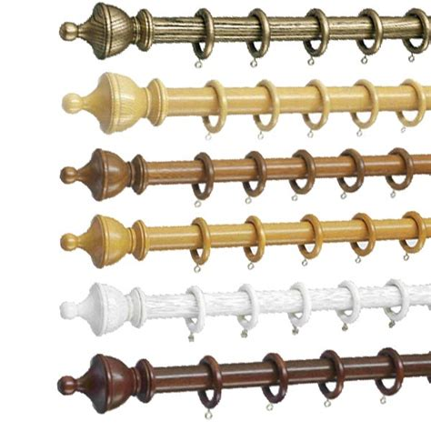 swish curtain poles swish romantica 35mm wooden curtain pole set ebay