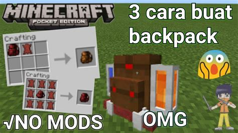 cara buat mod game java 3 cara buat backpack tas di minecraftpe no mods simple
