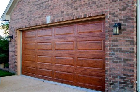 Metal Garage Door Paint After Faux Painting How To Paint Your Boring Metal Garage Door To Look Like Real Wood Faux