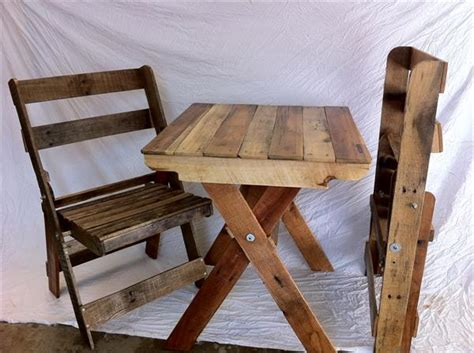 Diy Armchair by Pallet Folding Chairs And Table Pallet Furniture Plans