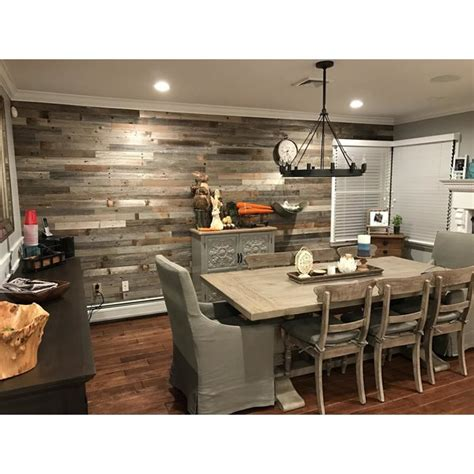 Peel And Stick Wainscoting by Plankandmill 3 Quot Reclaimed Barnwood Peel And Stick Wall
