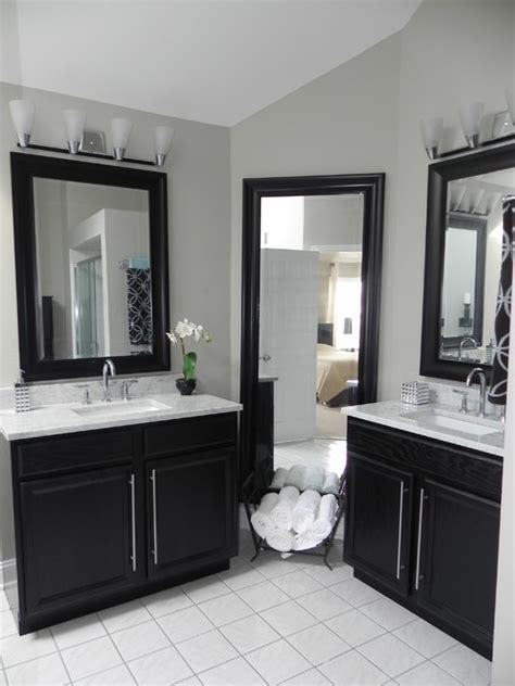 can i use kitchen cabinets in the bathroom master bath vanity using kitchen cabinet bases contemporary bathroom