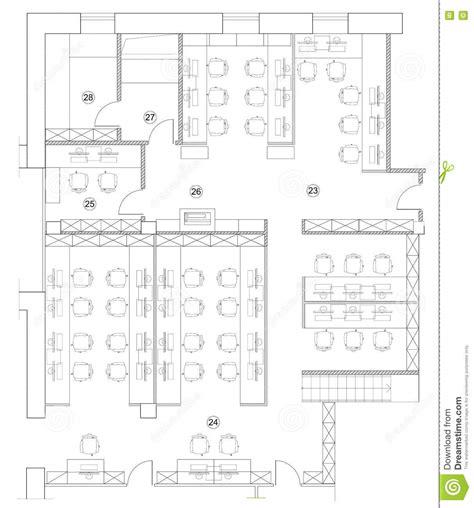 office floor plan symbols standard office furniture symbols on floor plans stock