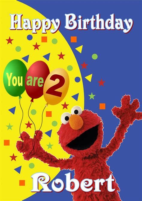 elmo birthday card template personalised elmo birthday card