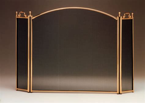 Solid Brass Fireplace Screen by Fireplace Screens At Toolsforfireplaces