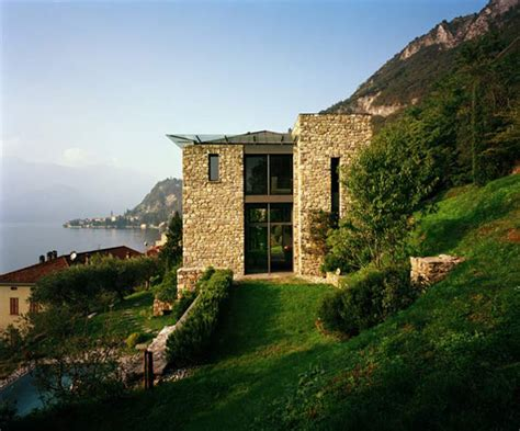modern italian house designs italian stone house with rustic appeal on lake como by architect arturo montanelli