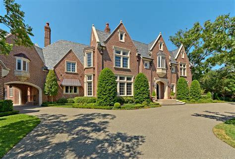 english tudor style brick mansion  located