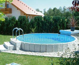 Runder Pool Im Garten 2414 by Stahlwand Rundpool 123swimmingpool So Einfach K 246 Nnen