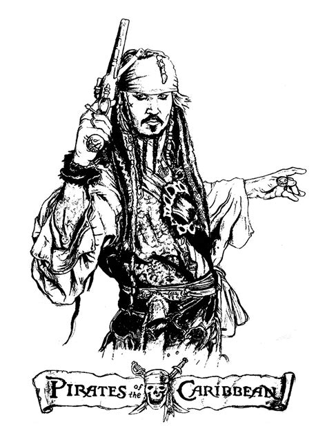 pirates of the caribbean movies coloring pages for