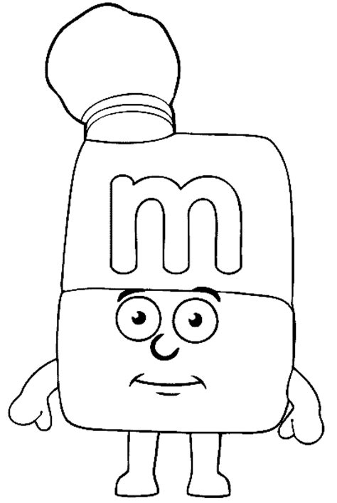 alphablocks free colouring pages