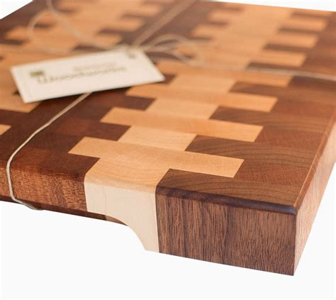 Walnut Custom Wood Countertops hand made walnut and maple end grain cutting board by