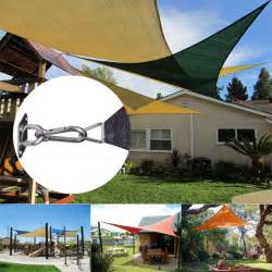 Difference Between Canopy And Awning 6pcs Sun Shade Sail Fittings Kit Garden Patio Awning