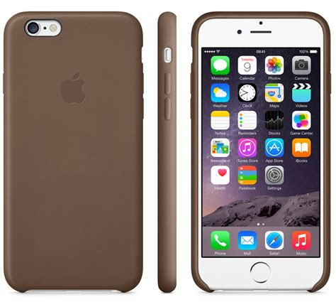 Iphone 566plus Silikon Brown apple s silicone and leather iphone 6 cases comparison