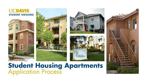 uc davis housing 2015 uc davis student housing apartments application process youtube