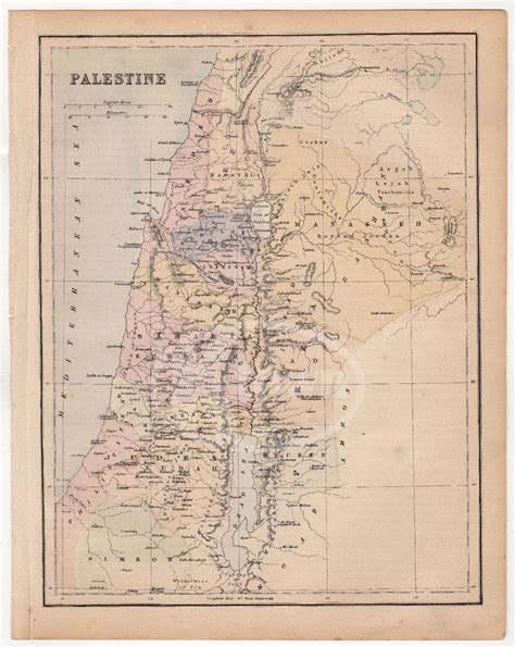 middle east map testament palestine israel map testament middle east antique