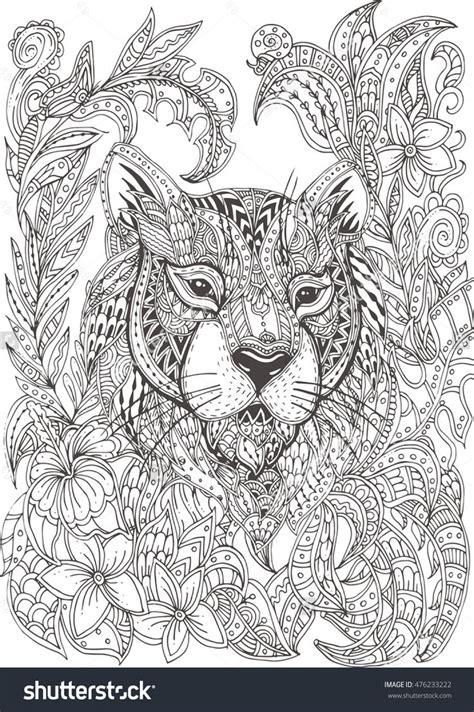 intricate tiger coloring pages 1000 ideen zu ausmalbilder tiger auf pinterest