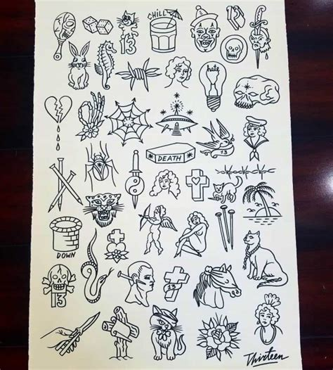 friday the 13th tattoos special 10 shops with friday the 13th flash sheet deals