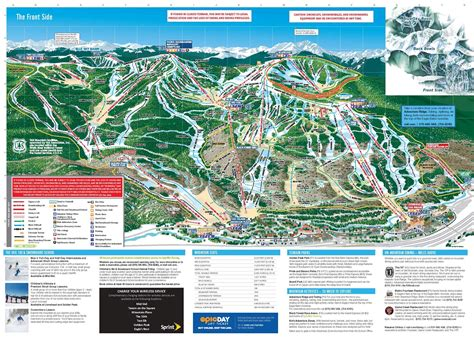 vail colorado ski map timeshare resort and vacation rentals in vail co
