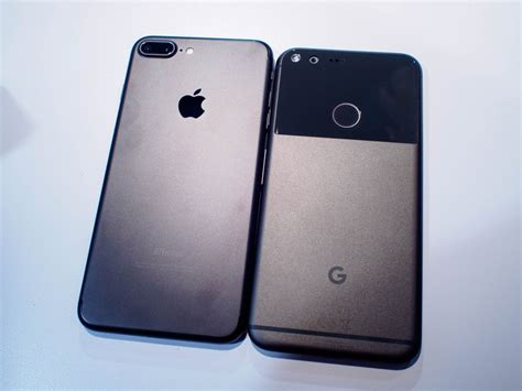 comparison pixel xl vs iphone 7 plus android central