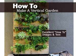 How To Build A Vertical Garden How To Make A Vertical Garden