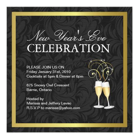 New Year Party Invitation Templates Free New Years Invitation Templates Free
