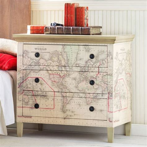 Decoupage Laminate Furniture - using maps on furniture kidspace interiors nauvoo il