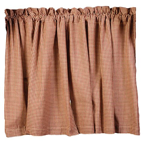 Burgundy Check Curtains Burgundy Check And Berries Country Curtain Tiers 24 Quot 30 Quot 36 Quot Lengths Ebay