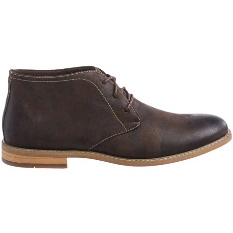 deer stags seattle coated canvas chukka boots for