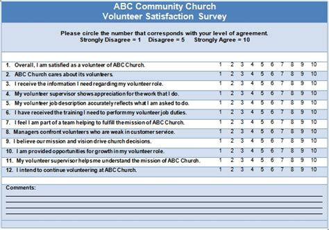 volunteer questionnaire template volunteer satisfaction 4 opportunities to ask questions