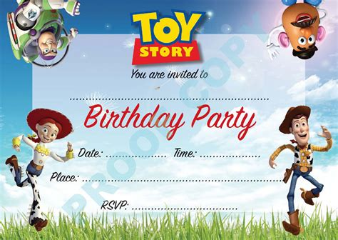 toy story buzz woody kids children birthday party