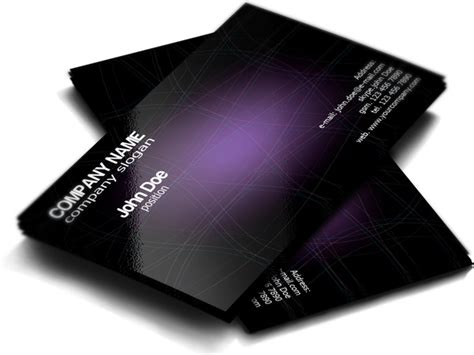 purple business card template free stylish purple free business card template free