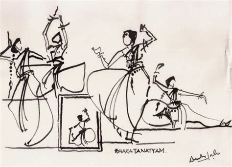 Stick On Wood Wall classical dance from bangalore india urban sketchers