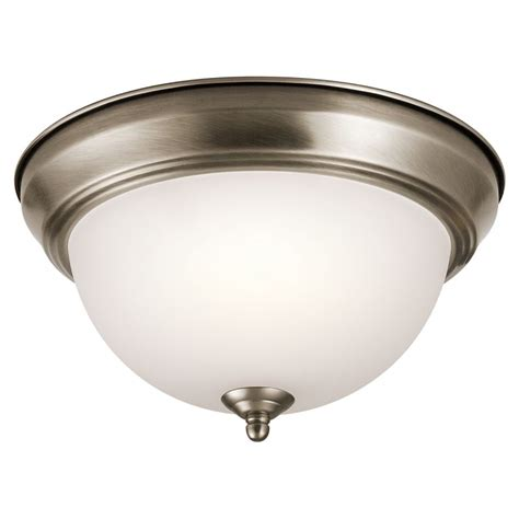 ceiling mount light fixture kichler 8111ap antique pewter signature 2 light flush mount ceiling fixture lightingdirect