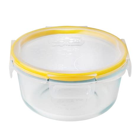 snapware containers snapware total solution glass food storage 4 cup with lid 1109306 the home depot