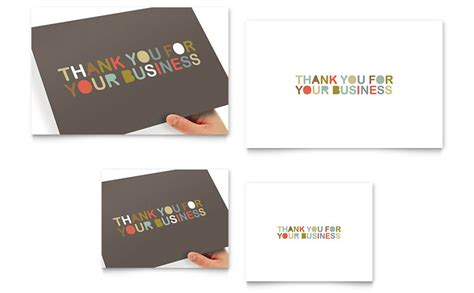 thank you card templates in publisher thank you for your business note card template word