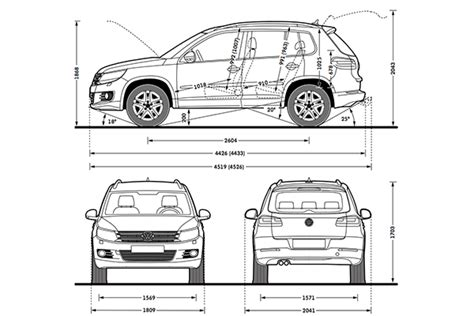 vw tiguan measurements autos post